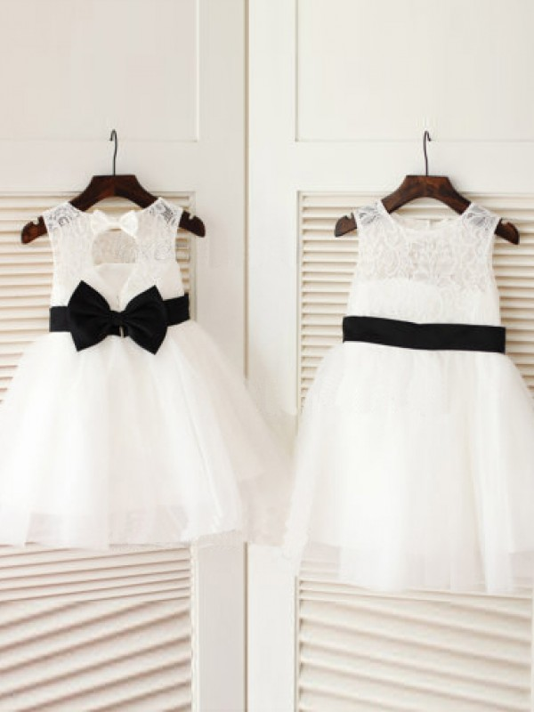 Chicregina Long A-Line/Princess Scoop Sleeveless Bowknot Communion Dress with Tulle