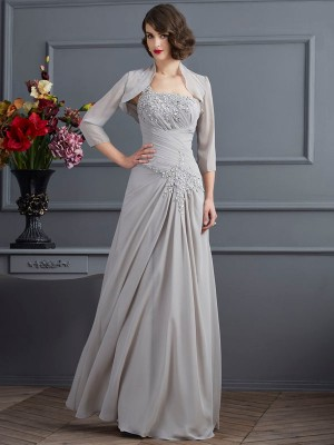 Chicregina A-Line One-Shoulder Chiffon Long Mother Of The Bride Dress With Sequin