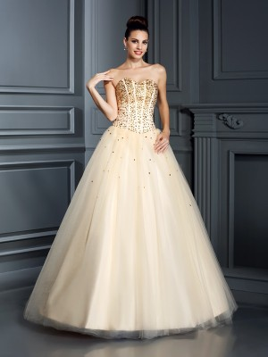 Chicregina Long Ball Gown Sweetheart Satin Prom Dress With Ruched Beading