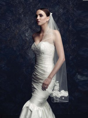 Women's Elegant Tulle With Embroidery Wedding Veils