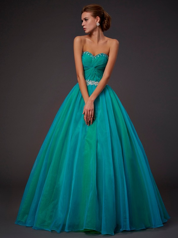 Chicregina Ball Gown Sweetheart Long Tulle Dress With Ruched
