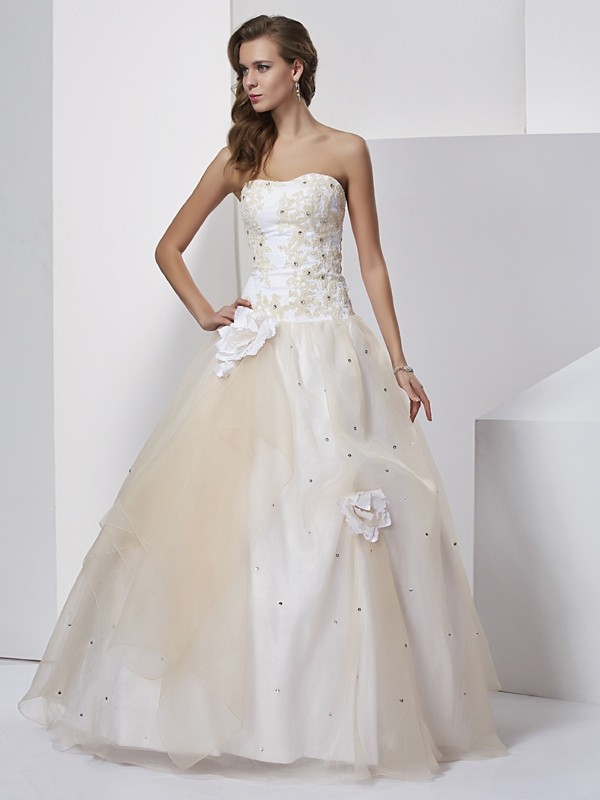 Chicregina Ball Gown Sweetheart Long Tulle Dress With Sequin
