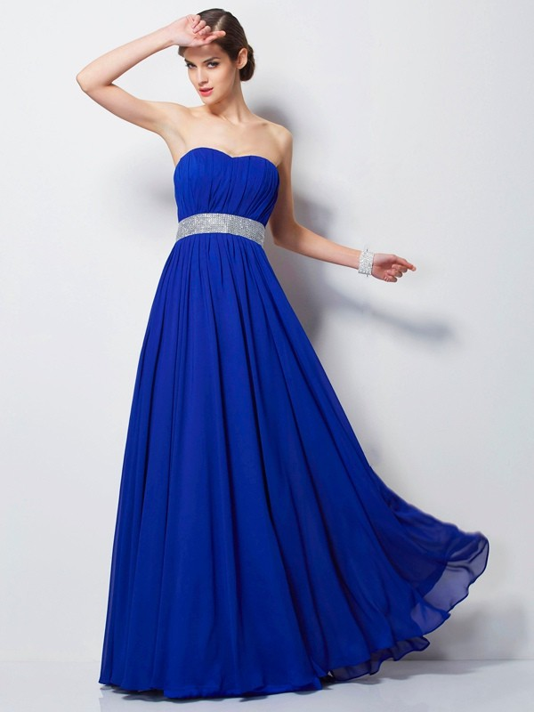 Chicregina Empire Sweetheart Long Chiffon Dress With Beading