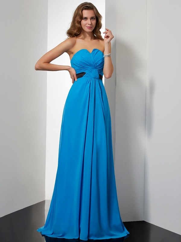 Chicregina Sleeveless A-Line Sweetheart Chiffon Dress With Beading