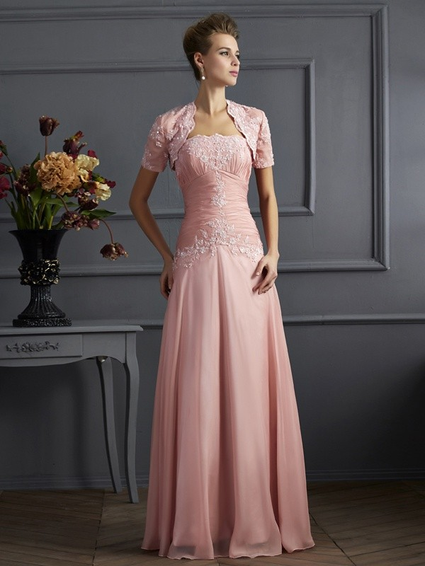 Chicregina Sheath Strapless Chiffon Mother Of The Bride Dress With Sequin