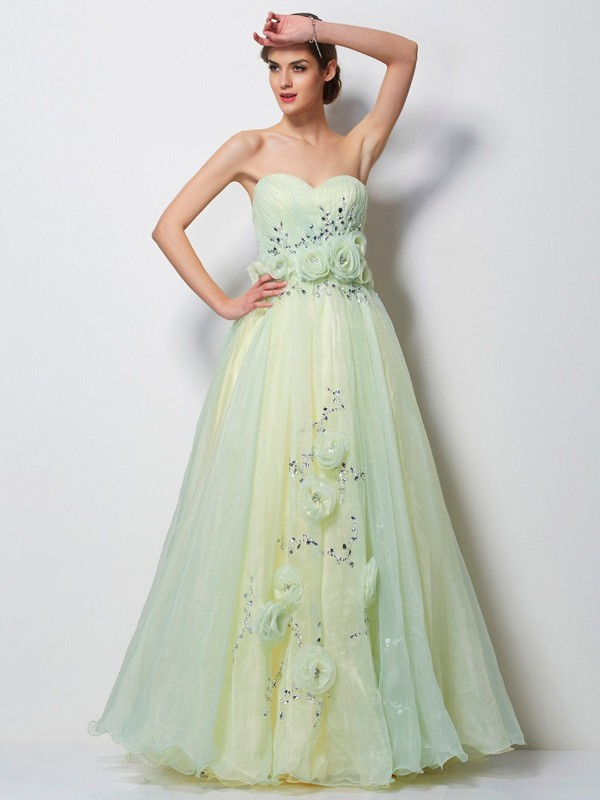 Chicregina A-Line Sweetheart Long Tulle Dress With Lace