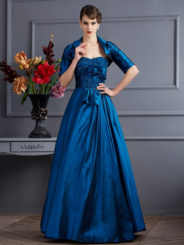 Chicregina A-Line Sweetheart Taffeta Dress With Sequin Applique
