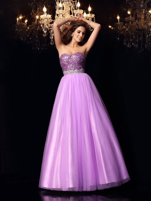 Chicregina Long Ball Gown Sweetheart Elastic Woven Satin Dress with Applique