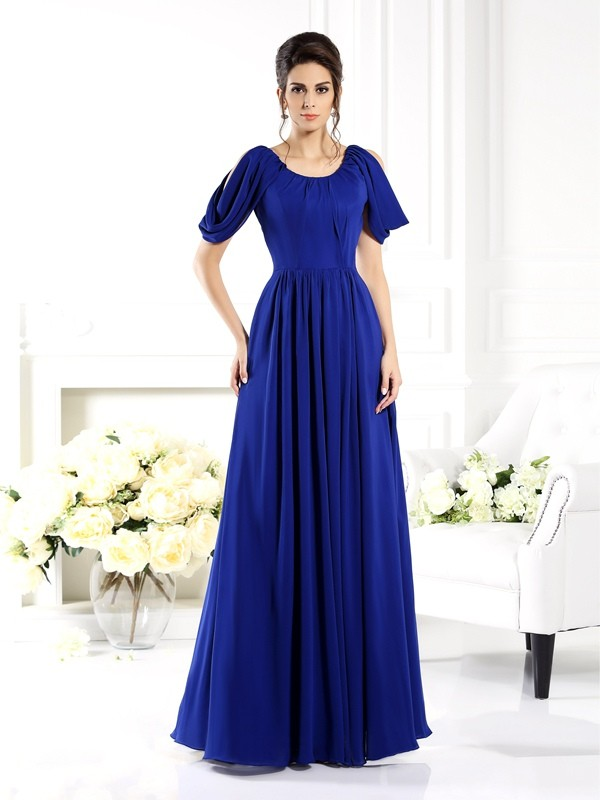 Chicregina A-Line/Princess Scoop Floor-Length Chiffon Bridesmaid Dress with Sash