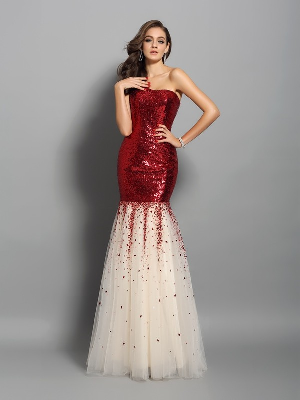 Chicregina Long Trumpet/Mermaid One-Shoulder Sequins Dress with Ruched