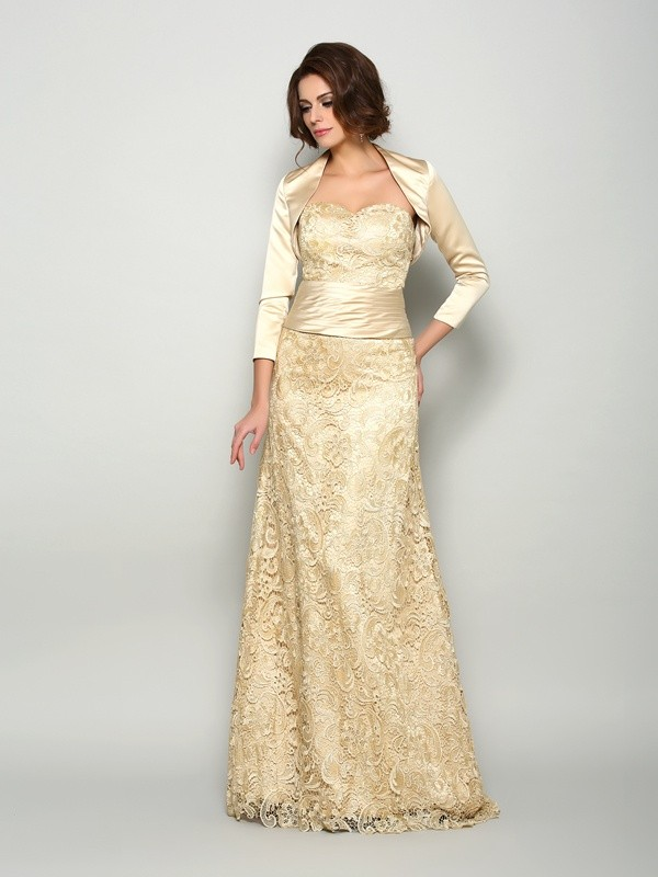 Chicregina A-Line/Princess Satin Floor-Length Sweetheart Mother Of The Bride Dress with Applique