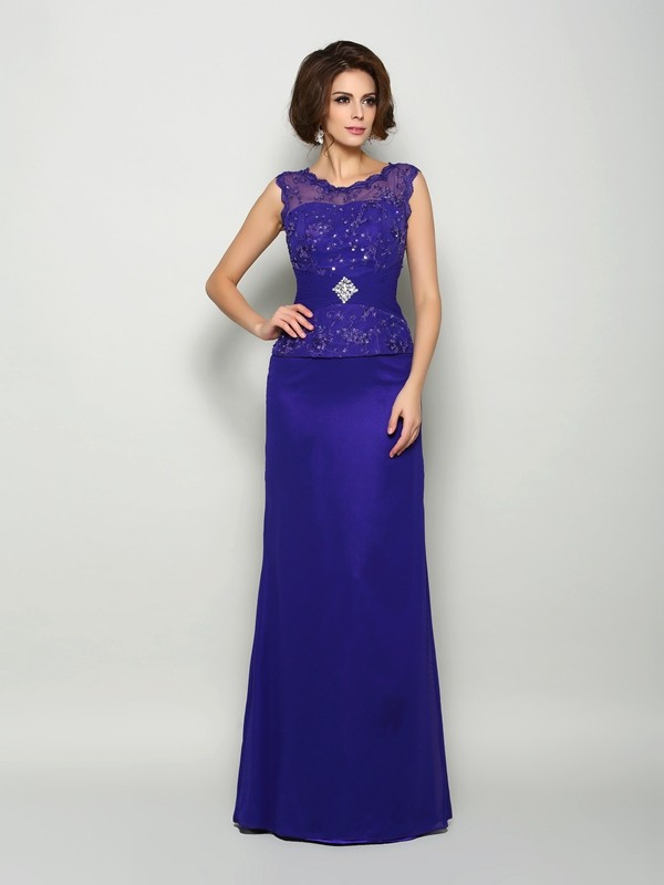 Chicregina A-Line/Princess V-neck Chiffon Floor-Length Mother Of The Bride Dress with Applique Beading