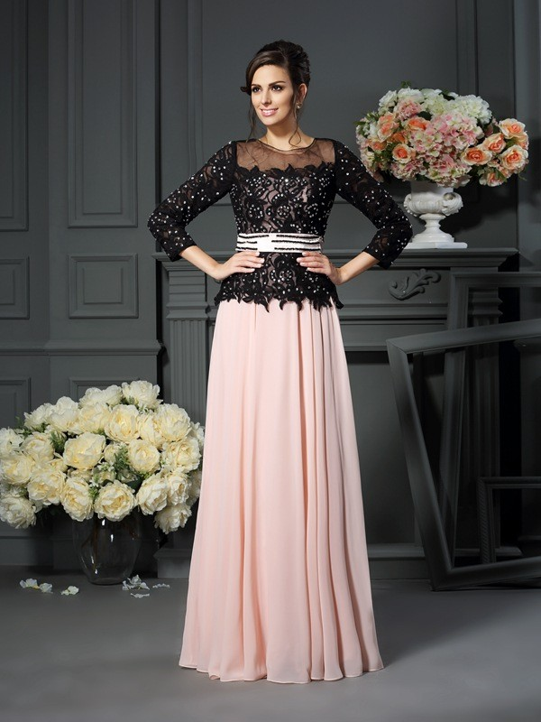 Chicregina A-Line/Princess Sweetheart Floor-Length Chiffon Mother Of The Bride Dress with Sash