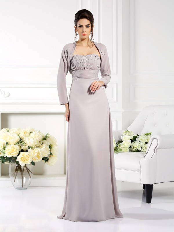 Chicregina A-Line/Princess Strapless Floor-Length Chiffon Mother Of The Bride Dress with Sash