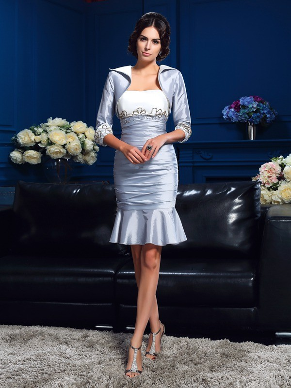 Chicregina Sheath/Column Sweetheart Taffeta Short Mother Of The Bride Dress with Sequin
