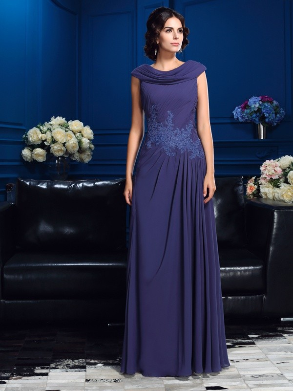 Chicregina A-Line/Princess Floor-Length Chiffon Mother Of The Bride Dress with Embroidery