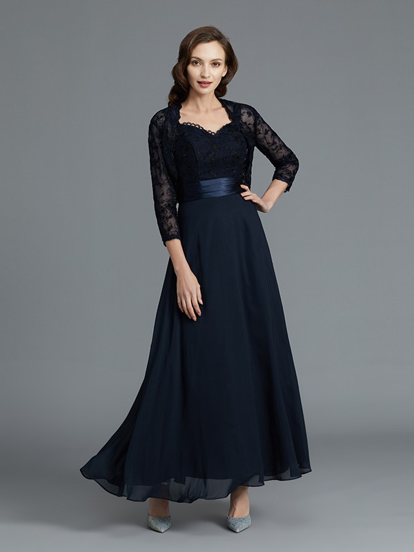 A-Line/Princess Sweetheart Ankle-Length Sleeveless Chiffon Mother of the Bride Dresses