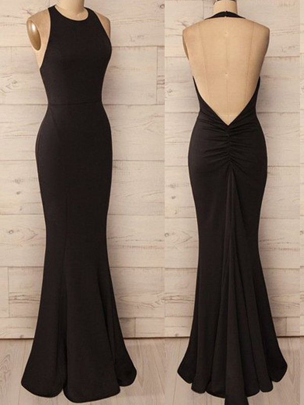 Chicregina Trumpet/Mermaid Floor-Length Halter Sleeveless Spandex Dresses