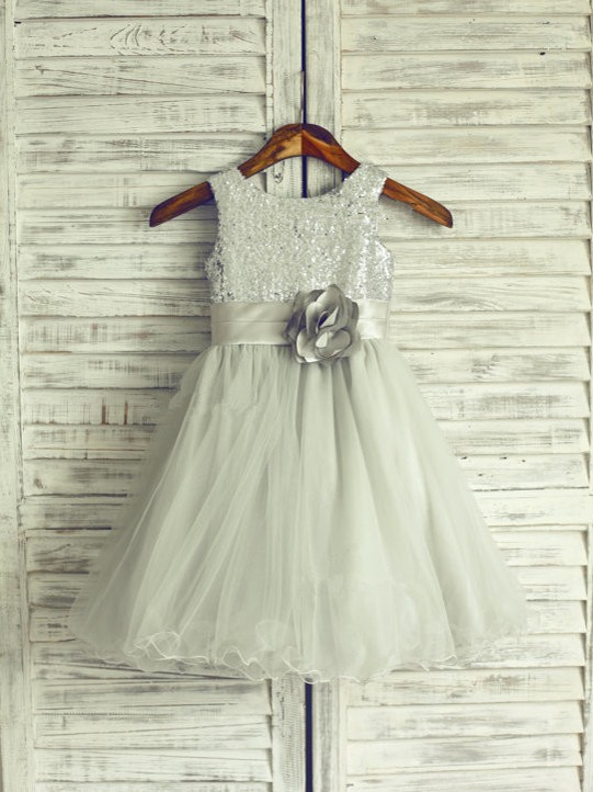 Chicregina Long A-Line/Princess Scoop Sleeveless Organza Communion Dress